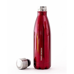 Bouteille isotherme inox 0,5 L rouge Yoko® Design