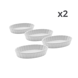 Lot de 8 coupelles en porcelaine ovale Westmark