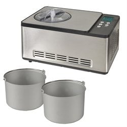 Turbine à glace PRO 2 cuves x 1,65 L ICE-1530 PRO Kitchen Chef Professional