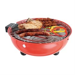 Barbecue de table électrique rond rouge 1250 W DOC170R