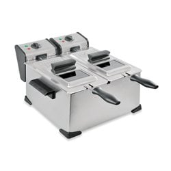 Friteuse professionnelle 2 cuves 42 cm 2XDA35X Kitchen Chef Professional