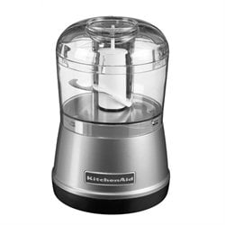 Mini-hachoir gris argent kitchenaid