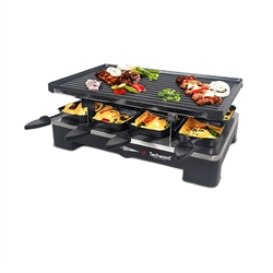 Raclette grill et plancha 8 pers. Techwood