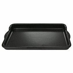 Plancha rectangle céramique 36 cm noir Appolia