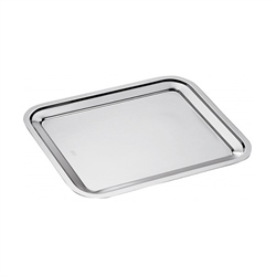 Plat rectangle en inox Dribbling 30 cm