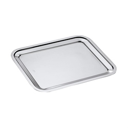 Plat rectangle en inox Dribbling 35 cm