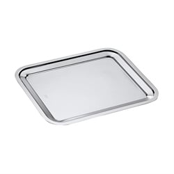 Plat rectangle en inox England 35 cm