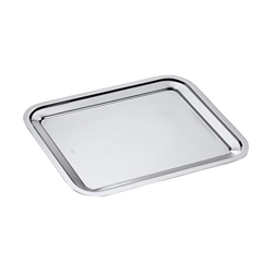 Plat rectangle en inox Dribbling 40 cm