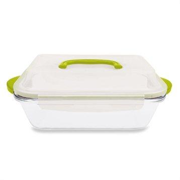 Plat en verre rectangulaire avec couvercle 1 l bo tes de conservation ustensiles de cuisine - Conservation plat cuisine ...