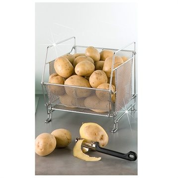 Panier de cuisine empilable etag res et crochets de for Amenagement etagere cuisine
