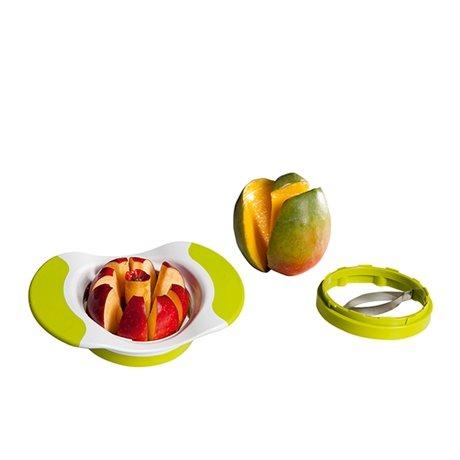 Coupe pommes et mangues kitchenartist coupe fruits - Decoupe legumes coupe legumes oignons et fruits ...