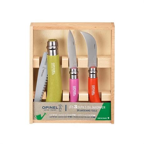 coffret les 3 outils du jardinier opinel set de couteaux et coffrets couteaux et d coupe. Black Bedroom Furniture Sets. Home Design Ideas