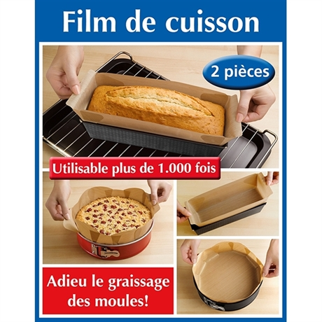 Set 2 film cuisson rect + rond