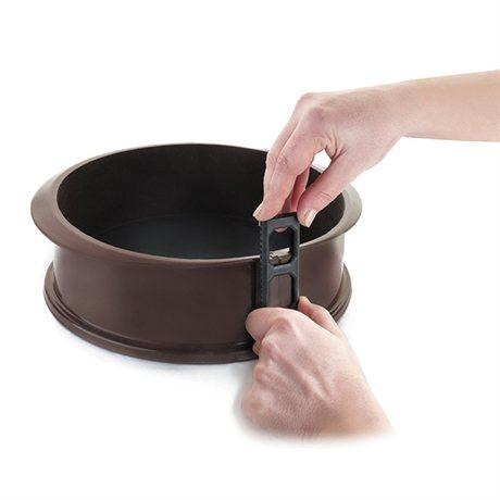 moule rond 25 cm en silicone avec fond amovible. Black Bedroom Furniture Sets. Home Design Ideas