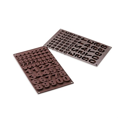 Moule chocolats 123 silicone