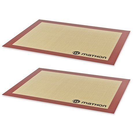 Lot de 2 Tapis de cuisson professionnels en silicone Mathon