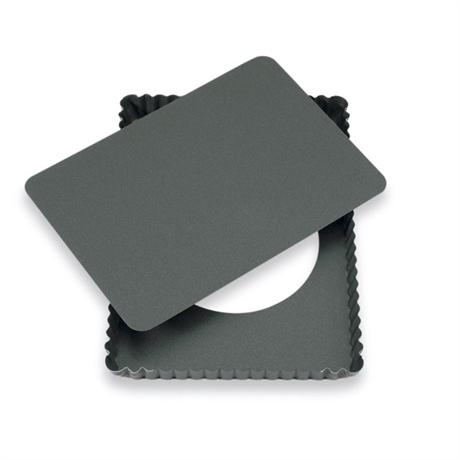 Moule à tarte amovible rectangle acier revêtu anti-adhérent bords cannelés  30 cm Mathon - Mathon.fr e01e0df2dbda