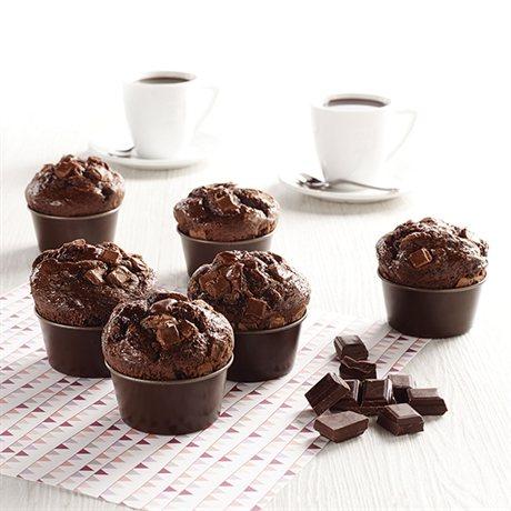 6 moules muffin individuels gobel moules et plaques en m tal mat riel de p tisserie. Black Bedroom Furniture Sets. Home Design Ideas