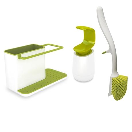 set 3 pi ces pour vier joseph joseph egouttoir vaisselle accessoires vier organisation. Black Bedroom Furniture Sets. Home Design Ideas