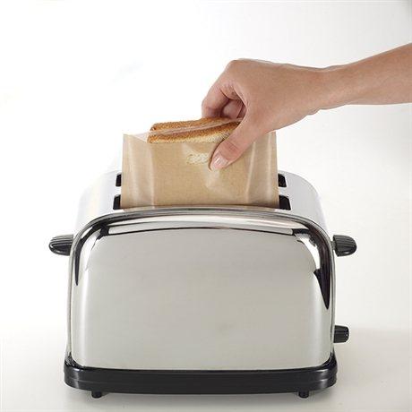 Set de 2 sachets de cuisson pour toasts et croques-monsieur Toastabags (vue 2