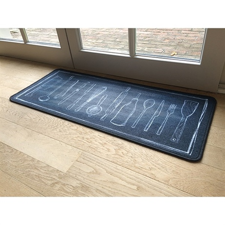 Tapis de cuisine motif ustensiles 120 cm am nagement de for Tapis de cuisine 80 x 120