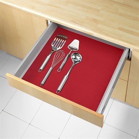 tapis fond de tiroir anti d rapant rouge 150 x 50 cm wenko rangement de placards et tiroirs. Black Bedroom Furniture Sets. Home Design Ideas
