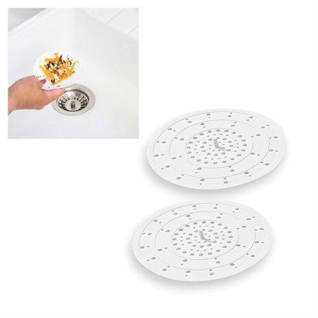 set 2 tamis d vier en silicone blanc egouttoir vaisselle accessoires vier organisation. Black Bedroom Furniture Sets. Home Design Ideas