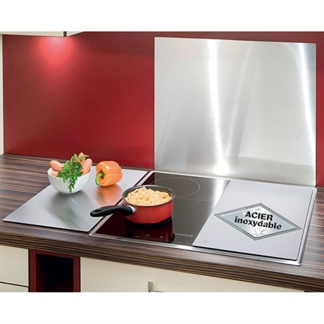 2 couvre plaques inox protection plaques de cuisson cr dence organisation de la cuisine. Black Bedroom Furniture Sets. Home Design Ideas