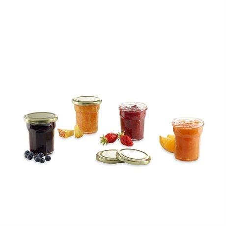 4 pots confitures en verre avec couvercles et tiquettes ard 39 time bo - Pots en verre pour confiture ...