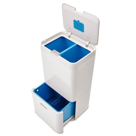 poubelle totem pierre 58l joseph joseph poubelles de cuisine et de salle de bain. Black Bedroom Furniture Sets. Home Design Ideas