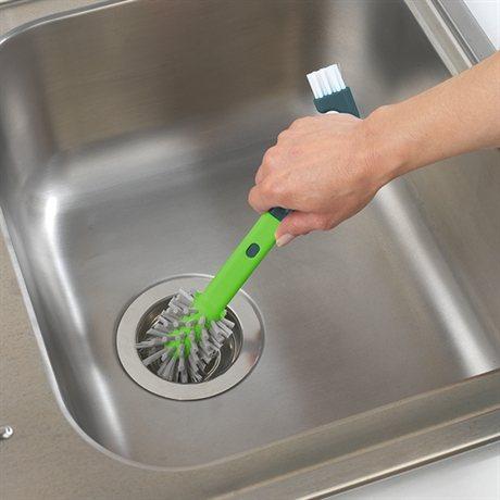 Brosse vier 3 en 1 egouttoir vaisselle accessoires vier organisation - Egouttoir a vaisselle a suspendre ...