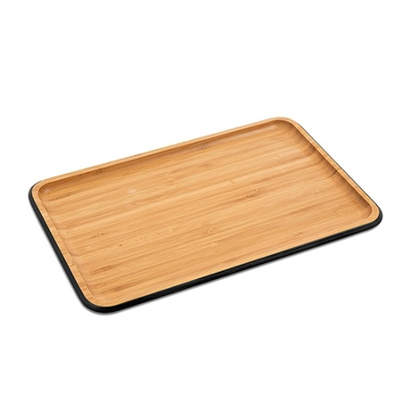 Plateau de service bambou rectangulaire 33 cm pebbly - Service de table rectangulaire ...