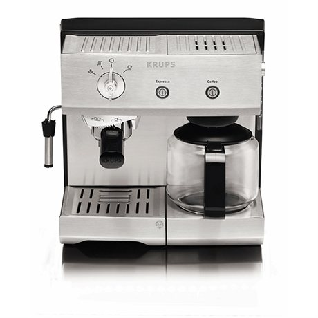 cafeti re combine espresso manuel inox 1 4 l xp224010 krups cafeti res lectriques petit. Black Bedroom Furniture Sets. Home Design Ideas