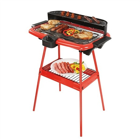 barbecue lectrique sur pieds rouge 2000 w grills lectriques planchas et barbecue petit. Black Bedroom Furniture Sets. Home Design Ideas