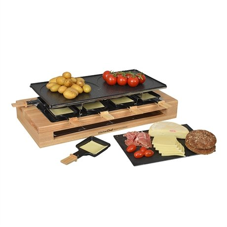 appareil raclette bamboo 8 po lons et 2 double po lons 1500 w kitchen chef professional. Black Bedroom Furniture Sets. Home Design Ideas