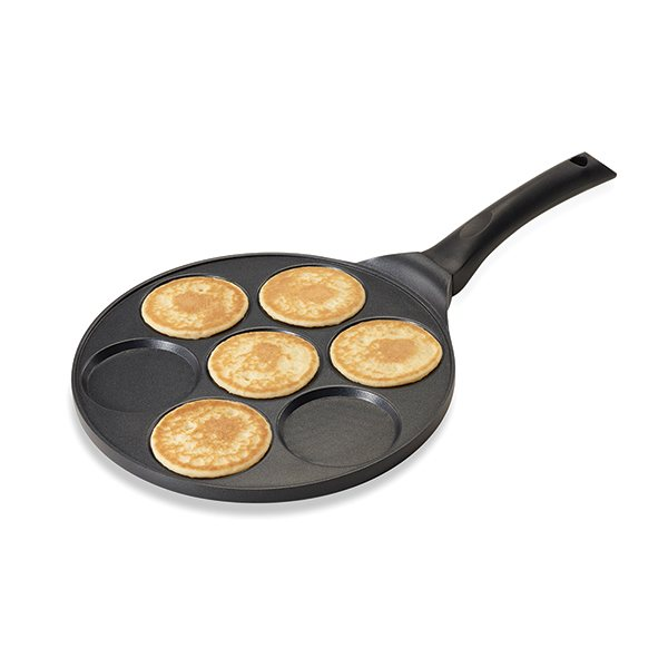 Poêle 7 mini blinis ou pancakes à induction fonte 27 cm Mathon zoom