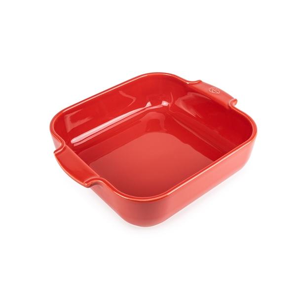 plat four carr c ramique rouge 28 cm peugeot plats four mat riel de cuisson. Black Bedroom Furniture Sets. Home Design Ideas