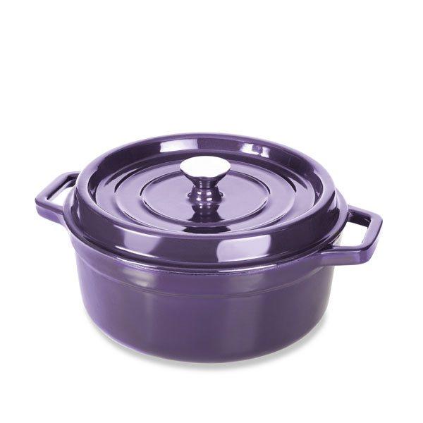 cocotte en fonte rond 28 cm 5 l aubergine mathon cocottes et roasters mat riel de cuisson. Black Bedroom Furniture Sets. Home Design Ideas