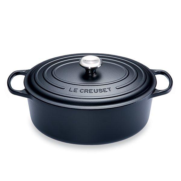 Cocotte Fonte Ovale 31 Cm Noir