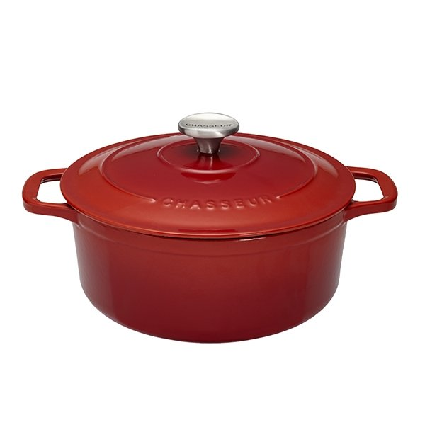 Cocotte Sublime fonte rond 26 cm rubis Chasseur zoom