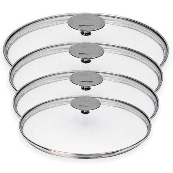 4 couvercles verre multiply et classic 14 20 cm cristel couvercles manches et poign es - Couvercle casserole en verre ...