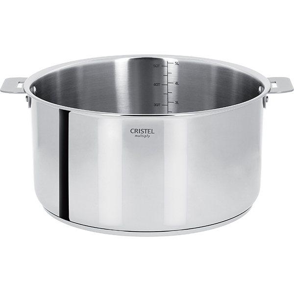 casserole casteline 18 cm cristel casseroles mat riel de cuisson. Black Bedroom Furniture Sets. Home Design Ideas