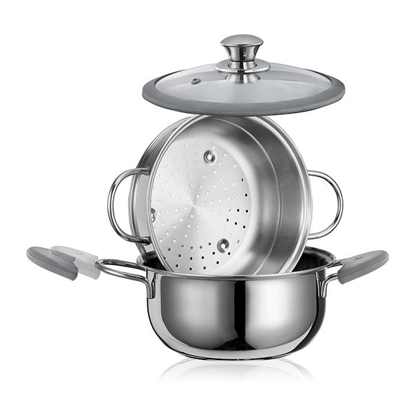 cuiseur vapeur premium inox 22 cm cuisson la vapeur mat riel de cuisson. Black Bedroom Furniture Sets. Home Design Ideas