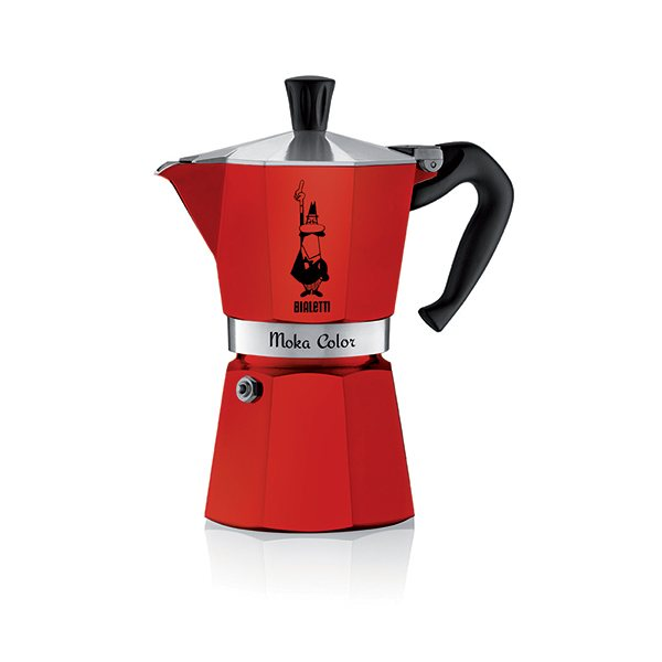 Cafetière Moka Express rouge 6 tasses Bialetti zoom