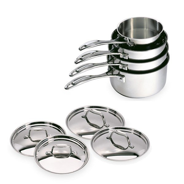 Lot de 4 casseroles et 4 couvercles Chef de 14 à 20 cm Beka zoom