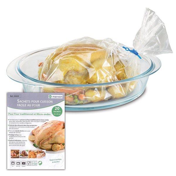 20 sachets pour cuisson facile au four mathon for Materiel de cuisson