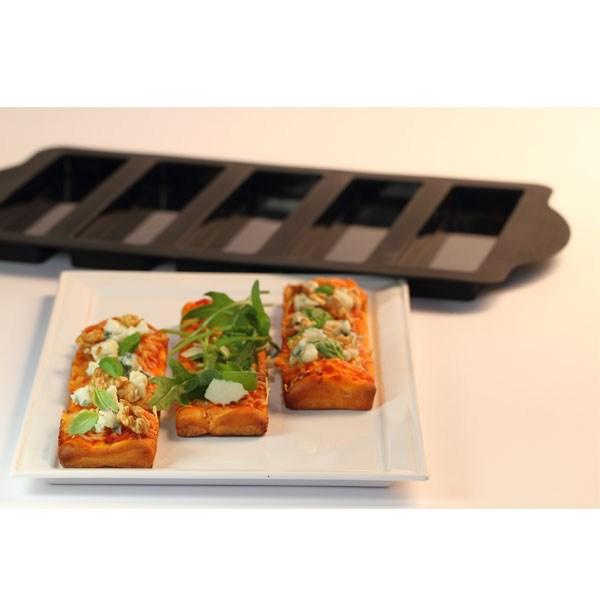 Moule silicone pour mini pizzas 39 pizza party 39 42 cm noir for Soldes materiel cuisine