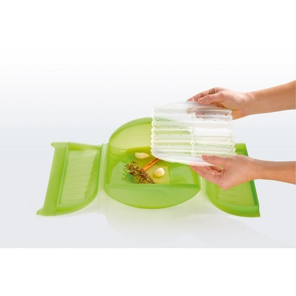 Papillote silicone avec grille 27,5 cm Lekue zoom