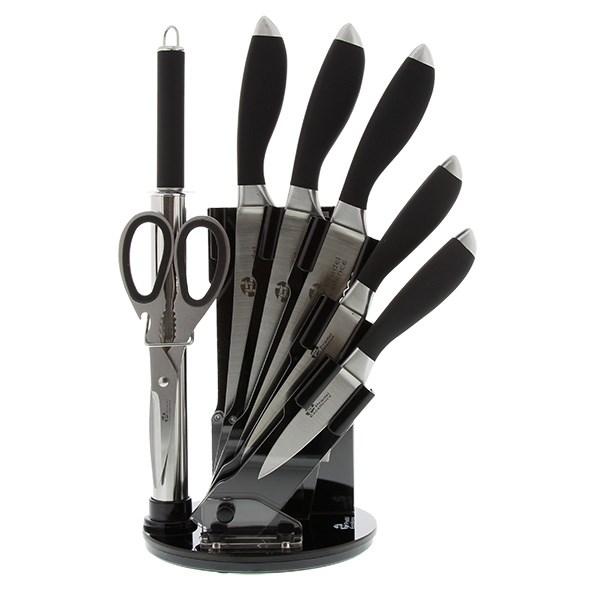 Bloc 5 couteaux avec fusil et ciseaux pradel excellence - Pradel couteau cuisine ...