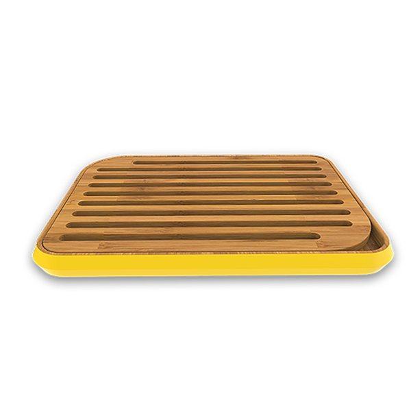 planche pain jaune en bambou pebbly 25 cm pebbly planches d couper et billots couteaux. Black Bedroom Furniture Sets. Home Design Ideas
